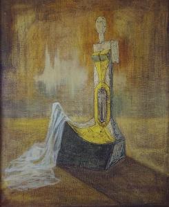 1.Crepusculul excelentei sale, ulei pe panza, 1971, 101x120cm, col Fam. Felea