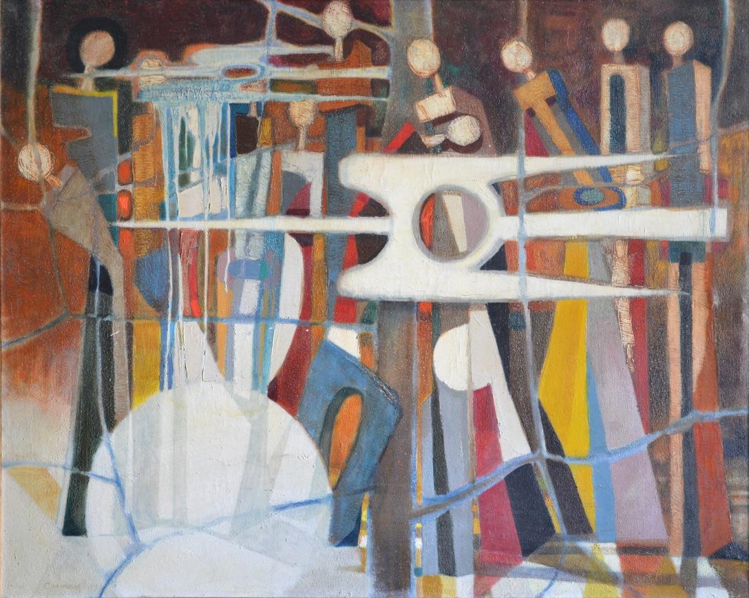 9.Lupta, ulei pe panza, 1973, 100x126cm
